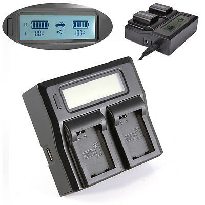 $ CDN38.12 • Buy LCD 2 Dual Battery Charger For Sony NP-FW50 A6300 A6000 A7R A7S A7 II NEX 7 6 5
