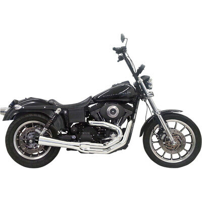 AU1040.79 • Buy Bassani Chrome Road Rage 2 Into 1 Short Exhaust Harley FXD 91-05 -Mid Controls
