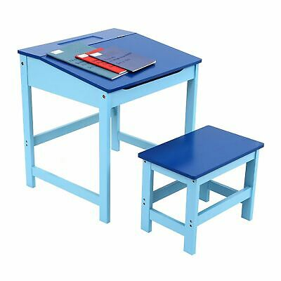 Children's School Study Desk And Stool, MDF, Blue (ideal For Boy 3-8 Years Old) • 52.95£