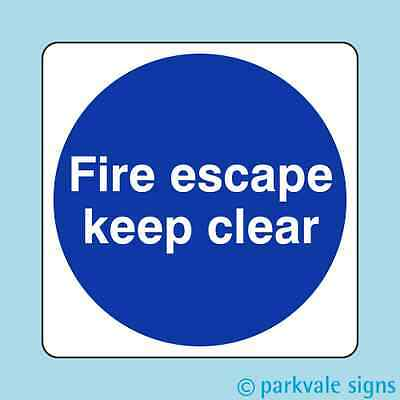 Fire Escape Keep Clear Sign • 0.99£