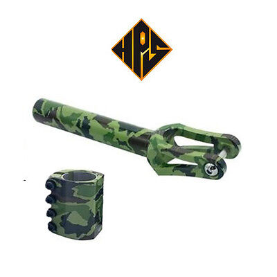 Stunt Scooter Threadless Fork & Scs Clamp Army Style Latest Dip Dye I Set Only • 49.99£