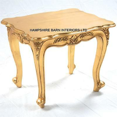 £399 • Buy French Chateau Style Louis Ornate Side Lamp Table Gold Leaf Small Coffee Carved