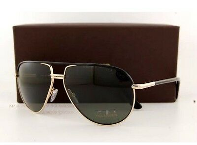 63d3d1ddaccea Tom Ford TF 285 COLE FT0285 01J Gold Black G-15 Green Polarized Lens  Sunglasses