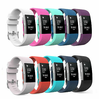 AU3.99 • Buy Replacement Silicone Watch Wrist Sports Band Strap For Fitbit Charge 2 Wristband