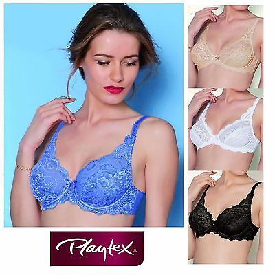 Playtex Affinity Flower Elegance Bra 5832 Underwired Non-Padded Womens Lace Bras • 27.95£