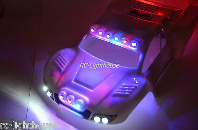 Traxxas Slash 4x4 2WD RC10 Deluxe Police LED Light Package Cop #36 LED Light Set • 41.77£