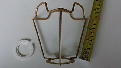 £12.98 • Buy 4 Inch ES Gold Coated Shade Carrier To Support A Lampshade With Duplex Fitting