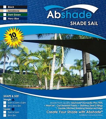 AU119.94 • Buy Extra Heavy Duty Shade Sail Canopy 10 YEAR UV WARRANTY