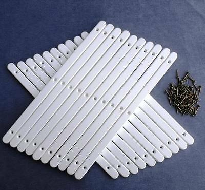 £9.79 • Buy 10 Pairs Of White Plastic Drawer Runners & Screws For Furniture