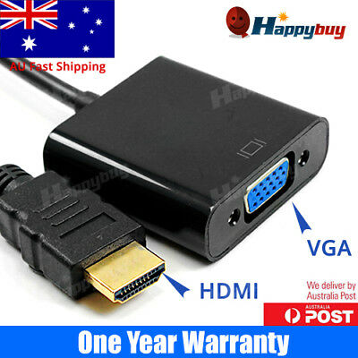 AU6.03 • Buy 1080P HDMI Male To VGA Female Video Adapter Cable Converter Chipset Built-in