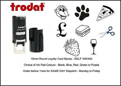 Loyalty Card Stamp Self Inking 10mm Circle Ideal For Cafe Bars Coffee Shop Salon • 10.60£