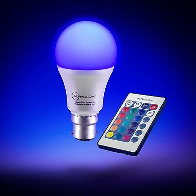 £9.99 • Buy AURAGLOW Remote Control Colour Changing Dimmable LED Light Bulb B22 E27 3rd Gen