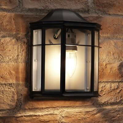 Auraglow Vintage Outdoor Wall Lantern Retro Garden Light - Light Bulb Included • 14.99£