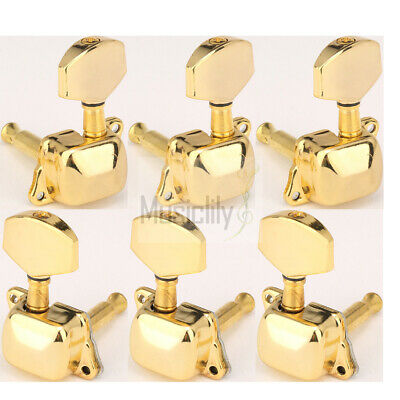 $ CDN16.65 • Buy Musiclily 3L3R Gold Guitar Semi Sealed String Tuning Pegs Machine Heads Tuners