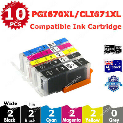 AU13.80 • Buy 10X Non-OEM PGI 670XL CLI 671XL Ink Cartridge For Canon MG5760 MG 5765 6860 5060