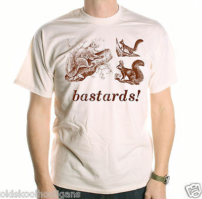 Bastards! Squirrels T Shirt Inspired By Blackadder Classic TV Comedy Young Ones • 12.99£