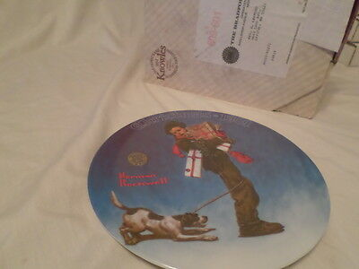 $ CDN16.37 • Buy Norman Rockwell  Wrapped Up In Christmas  Collector Plate 1981