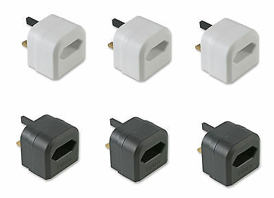 2 Pin To 3 Pin UK Battery Charger Mains Adaptor 3A Plug - 3x Pack • 9.99£