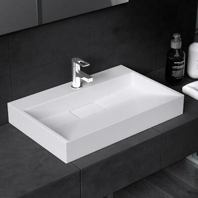 Mordern Stone Bathroom Basin Sink White  Wall Hung Countertop 500-1200mm • 70£