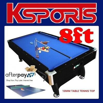 AU845 • Buy Pool Table 8ft Pub Size Snooker Billiard Table Blue With Table Tennis / Acckit