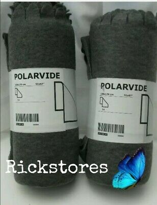 £16.99 • Buy 2 X IKEA POLARVIDE Grey Throws For Sofa - 130 X170 Cm  PROMOTIONAL PRICE, OFFER