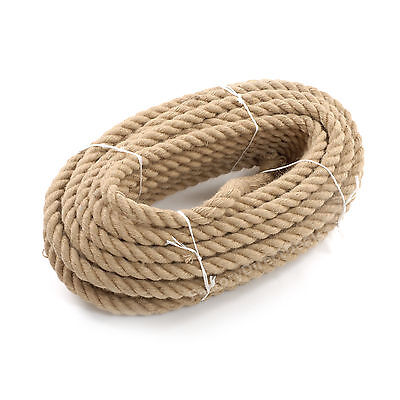 36 Mm Thick Heavy Duty Jute Rope Twisted Braided Garden Decking Cord 12345678910 • 31.99£