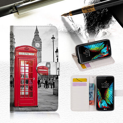 AU12.99 • Buy British Phone Booth Wallet Case Cover For ZTE AXON 7 Mini --A024