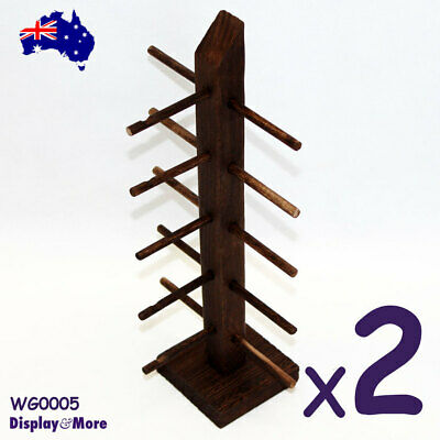 AU29.65 • Buy Sunglasses Holder EYEWEAR Stand | 2pcs | Wood NATURE Style | AUSSIE Seller