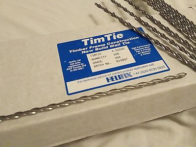 Timber Frame Cavity Wall Fixing Remedial Ties Helifix TimTie Staifix Thor Ancon • 70£