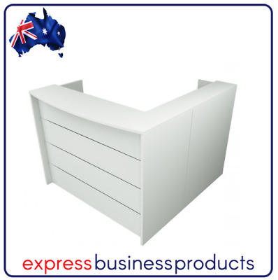 AU399 • Buy Ready 2 Go RD2 Office Reception Desk - Assorted Lengths - Two Colours Available