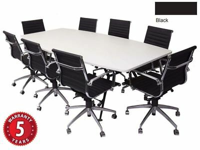 AU2100 • Buy Executive Boardroom Chair Package  8 X Medium Back Chrome Armrests & Base Chair