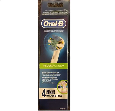 AU26.69 • Buy GENUINE 4 ORAL-B Floss Action TRIUMPH Replacement Toothbrush Tooth Brush Heads