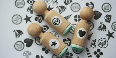 £4.25 • Buy Round Mini Rubber Stamps   Craft Scrapbooking Stamping All Occasions