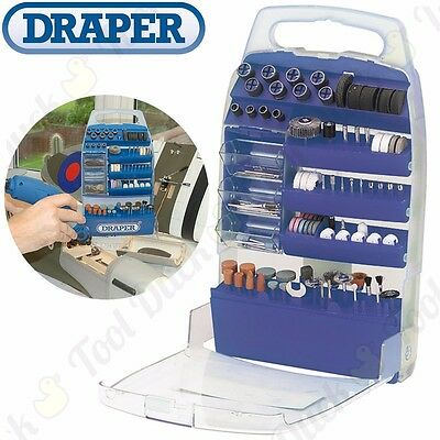 ROTARY TOOL ACCESSORY KIT 200Pc Dremel Type Multi Tool Power Drill Bit Set Hobby • 40.21£