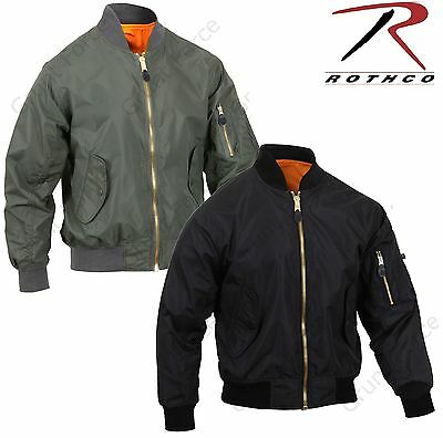 $54.99 • Buy Mens Lightweight MA-1 Flight Jacket - Rothco Military Air Force Style Coat