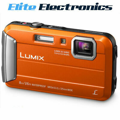 AU245 • Buy Panasonic Lumix Dmc-ft30 Orange Digital Camera Waterproof 16.1mp F3.9 - 5.7