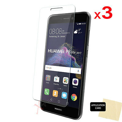 3 Pack CLEAR LCD Screen Protector Cover Guards For Huawei P8 Lite (2017) • 1.79£