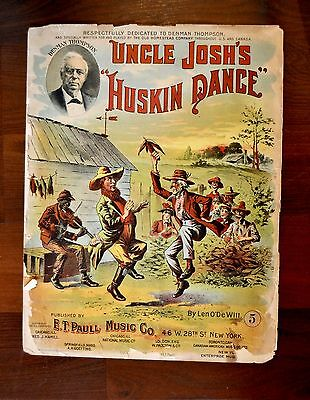 $49.99 • Buy Uncle Josh's Huskin Dance Black Art E.T. Paull Sheet Music Vintage
