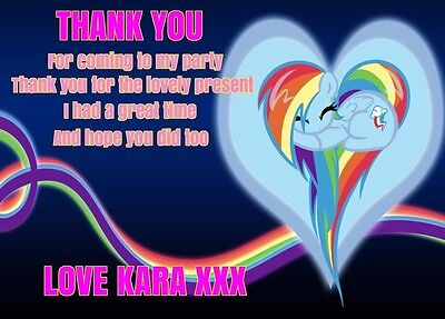 Personalised My Little Pony Thank You Cards A5 With Envelopes • 4.50£