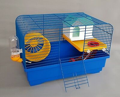 Syrian Hamster Cage With Many Accessories House Wheel Mouse Cage Pet Animal • 19.95£