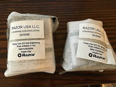 $150 • Buy  2 Stabilizing Post For Razor Crazy Cart (Replaces Front Caster Wheels)
