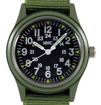 $ CDN57.92 • Buy MWC Classic 1960s/70s US Pattern Olive Drab Watch On Olive Green Military Strap