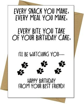 £2.95 • Buy Funny Happy Birthday Card From The Dog For Mum Dad Husband Wife Free Postage