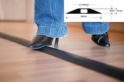 £16.95 • Buy Black Rubber Floor Cable Wire Cover Tidy Protector Safety Trunking Ramp Standard