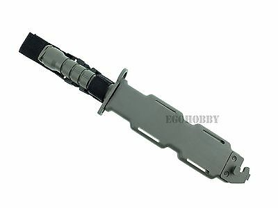 $ CDN23.49 • Buy Dummy Plastic M9 Style Rubber Bayonet With Plastic Sheath.Grey.