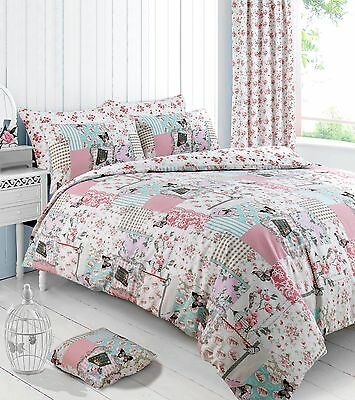 £16.95 • Buy Boutique Pink Floral Duvet Cover Bedding Quilt Cover Set Pillowcase All Sizes