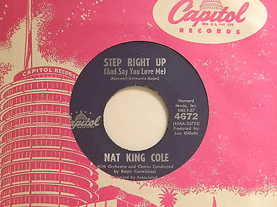 £2.83 • Buy Nat King Cole 45 STEP RIGHT UP Bw MAGIC MOMENT   Capitol VG+