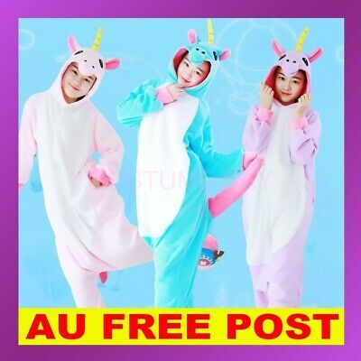 AU27.95 • Buy Adult Kids Royal Unicorn Pokemon Pikachu Charmandar Kigurumi Onesie Pajamas