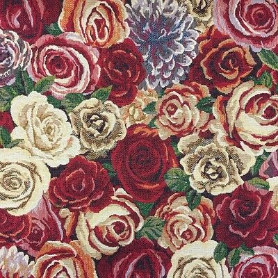 Tapestry Fabric New World Amsterdam Rose Floral Flowers Upholstery 140cm • 14.85£