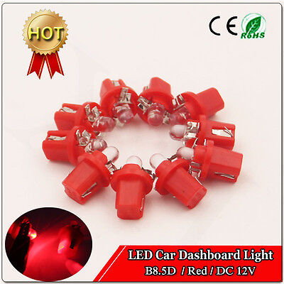 $ CDN7.97 • Buy 10pcs B8.5D 1SMD Instrument Cluster Guage Speedometer Red LED Bulbs Light DC 12V